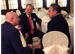 KKW Pres Kang NY Me kneeling